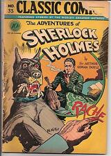 Classic Comics #33,Adventures Of Sherlock Holmes,1st Edition,Classic Cover!