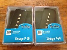 Seymour Duncan Vintage P-90 Pickup Set with Black Covers SP90-1n and SP90-1b New