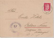 1943 Germany Oranienburg Concentration Camp Letter Cover Prisoner Josef Zitek