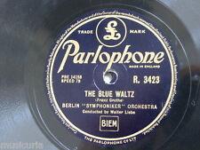 78rpm BERLIN SYMPHONIKER blue waltz / ANTON WALBROOK ronde de l`amour