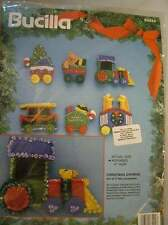 Bucilla Christmas Express Train Ornaments Kit  Makes 6