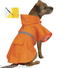 BIG DOG CLOTHING ORANGE DOG Rain WATERPROOF Coat Jacket w/Hood,Pocket *XXL