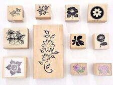 Rubber Stamps Flowers Lot of 11 Different Floral Design by Assorted Brands RS20