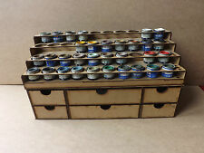 Paint Stand 40 Tins rack  storage drawers  Humbrol Revell Enamel, wargame Airfix