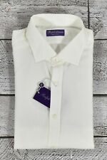 Ralph Lauren Purple Label Lightweight Flannel Dress Shirt 17.5 New $450