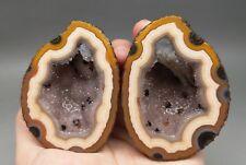 Pair Rough(Unpolished) Agate/Achat Nodule Specimen Xuanhua Hebei China  XH-174