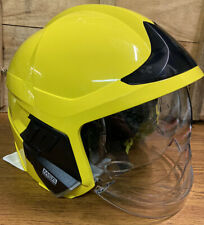More details for yellow msa f1 xf ex-firefighter helmet/gallet with lighting module size large