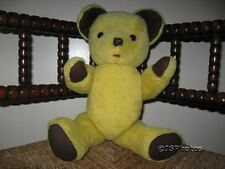 Vintage Yellow German Bear Fully Jointed Thick Stuffed 16 inch Germany