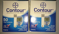 Bayer Contour Blood Glucose 100 Test Strips Expiration Date :01/2018