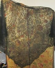 Antique French Black Lace Shawl