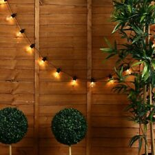Modern Indoor / Outdoor 20x Clear Globe Festoon Chain String Lights Lighting