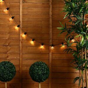 Modern Indoor / Outdoor 20x Clear Globe Festoon Chain String Lights Lighting