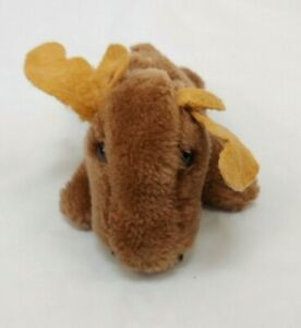 Vintage 1981 R Dakin & Co Moose Plush Toy Small Mini Brown Stuffed Animal