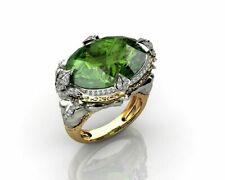 Ring Mermaid  Wedding  Fashion Luxury  Engagement  Gift Two Tone  Jewelry