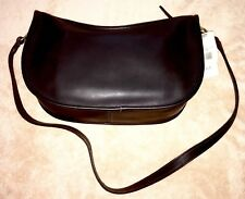 COACH Bag Black Leather Shoulder Binocular Vintage Bonnie Cashin 9853