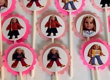 30 JULIE AMERICAN GIRL Cupcake Toppers Birthday Party Favors decoration 30