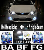 Replacement Headlight Bulbs H4 + H7 Lights FALCON BA BF FG XR6 XR8