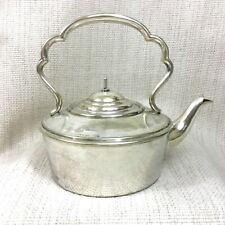 More details for antique silver plated travel kettle picnic teapot harrods victorian 19th century