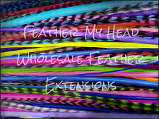Feather Hair Extensions Super Long 11  - 14 In (28-36cm) 100 Pc Bright Colors