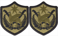 2 Pack U.S. Army MultiNational Force Iraq OCP Hook Military Patches