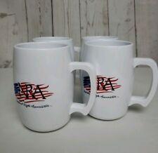 Set of 4 Nra with American Flag Acrylic Coffee Drinking Mug/Cups Usa