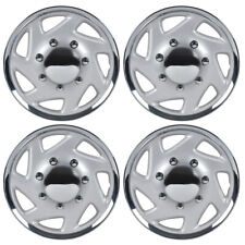 "4-Pack 16"" Hubcaps for Ford E-150 250 350 Truck Van Lug Style Strong ABS Wheel"