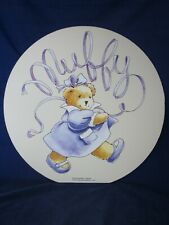 "Muffy Vanderbear Wall Hanging Picture 1995 LARGE 18"" diameter ~ VINTAGE NEW"