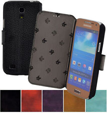 Samsung Galaxy S4 Mini Case Book Style Leather Cover 1A Wallet Case