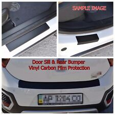 Ford Focus III SW 2011- Door Sill and Bumper Vinyl Wrap Scuff Protection Black