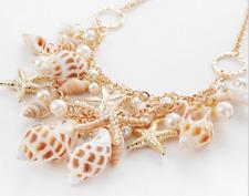 Pendant Betsey Johnson Jewelry Starfish Pearl Golden Chain Necklace Charm Women