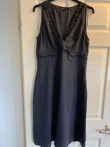 Great Plains Navy Linen Dress L/14