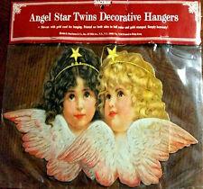 "ANGEL TWINS 10"" CHRISTMAS ORNAMENT Decoration Rare MINT Factory Sealed Shackman"