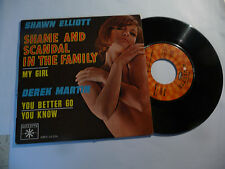 "SHAWN ELLIOT"" SHAME & SCANDAL IN THE FAMILY-45 giri EP ROULETTE Fr""SEXY COVER"