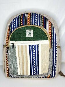 Brand new handmade bohemian hemp backpack