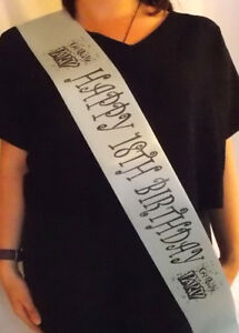 PERSONALISED BIRTHDAY 18TH SASH (CHEAP)