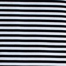 "Cotton Fabric 1/4"" BLACK & WHITE STRIPE Quilting, Patchwork,Apparel,Craft *TAF"