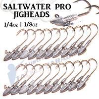 Bullet Jig Heads 1/4oz 1/8oz Fishing Lures Soft Plastics for Gulp Bream Bass