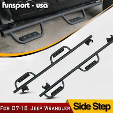 Side Step Nerf Bars Pads for 2007-2018 Jeep Wrangler JK & Unlimited 4 Door Pair