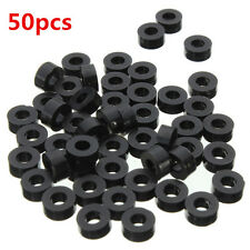 50pcs  Black Round Spacer  Flat Nylon Washer for M3 Screws, OD 8mm ID 3mm T 3mm
