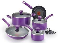 14-Piece Purple T-fal Cookware Set Dutch Oven Saucepan Frypan Pots and Pans NEW