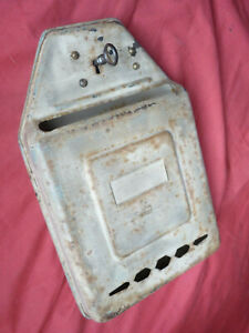 FRENCH ANTIQUE little steel letter box  with original patina , good condition