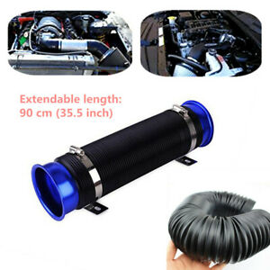 "Universal 3"" Car SUV Turbo Multi Flexible Air Intake Pipe Tube Intake Inlet Hose"
