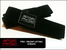 Weight Lifting Straps Bodybuilding Wrist Hand Bar Heavy Duty Pro - Range