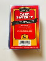 (50) Card Saver II Factory Sealed Pack! Cardboard Gold Semi Rigid Holders!