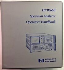 HP 8566B Spectrum Analyzer Operator's Handbook Incl Options P/N 08566-90045