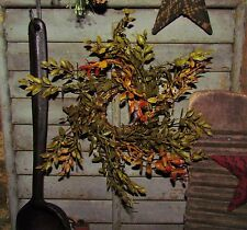 "Primitive 8"" Harvest Lemon Beauty Artificial Plants Fake Foliage Floral Ring"
