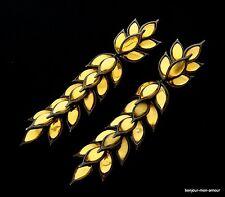 Ysl sign. original 1980's yves saint Laurent Haute Couture Découpage Boucles d'oreilles, rar