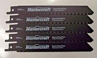 "Mastercraft By Bosch 6"" x 24 TPI Reciprocating Saw Blades 1630111 5 Pieces"