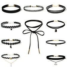 #8062 New Fashion 10Pcs/set Women Black Rope Choker Necklace