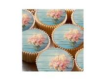 35 Shabby Chic Wedding Party Cup Cake Fairy Bun Edible Wafer Toppers Decorations